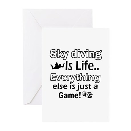 Sky Diving Is Life Greeting Cards (Pk of 10)