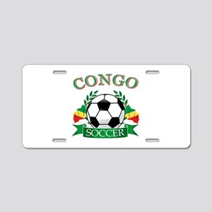 Congo Football Aluminum License Plate