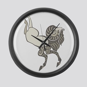 Pazyryk Ram Large Wall Clock