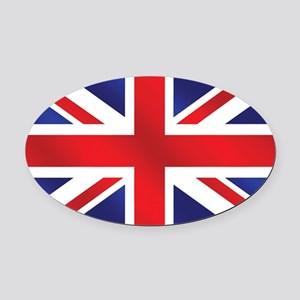 Union Jack UK Flag Oval Car Magnet