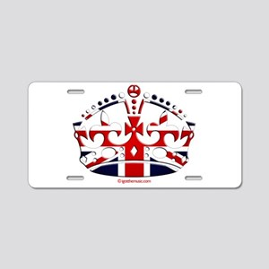 Royal British Crown Aluminum License Plate