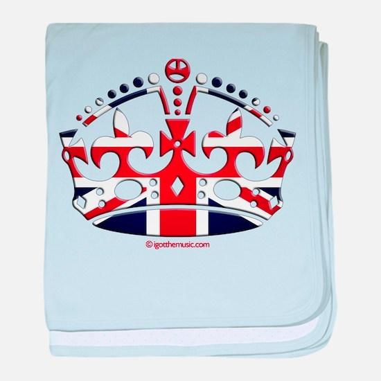 Royal British Crown baby blanket
