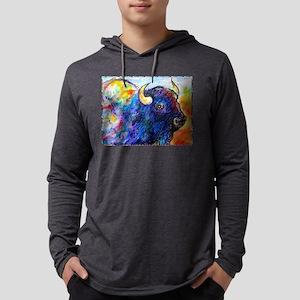 Buffalo, colorful art! Mens Hooded Shirt