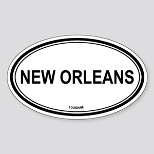 New Orleans (Louisiana) Oval Sticker