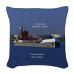 Victory & James L. Kuber Woven Throw Pillow