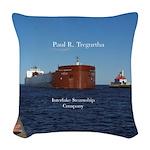 Paul R. Tregurtha Duluth Woven Throw Pillow