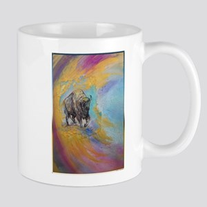 American Buffalo, original art, Mugs