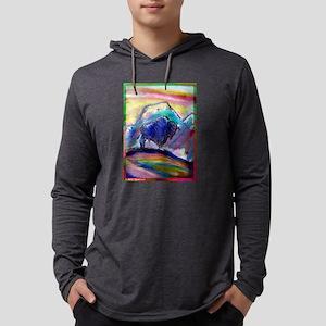 Buffalo, colorful, art! Mens Hooded Shirt