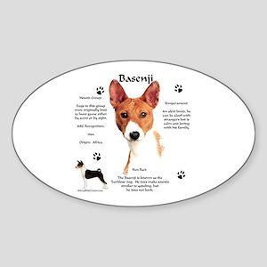 Basenji 1 Oval Sticker