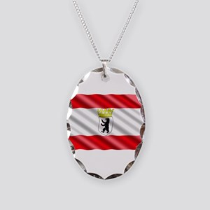 Berlin Flag Necklace Oval Charm
