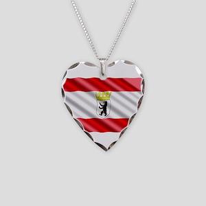 Berlin Flag Necklace Heart Charm