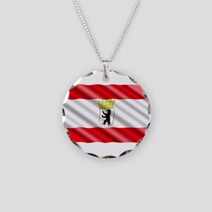 Berlin Flag Necklace Circle Charm