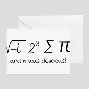I ate some pie math humor Greeting Cards