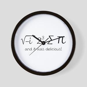 I ate some pie math humor Wall Clock