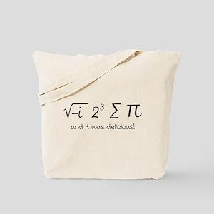 I ate some pie math humor Tote Bag