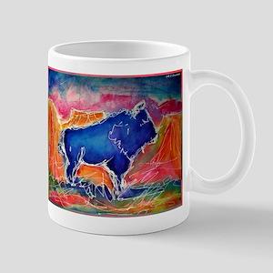 Buffalo, colorful, art! Mugs
