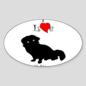 Pekinese Oval Sticker
