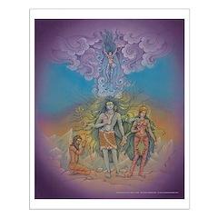 Ganga descends in Shiva's Hair