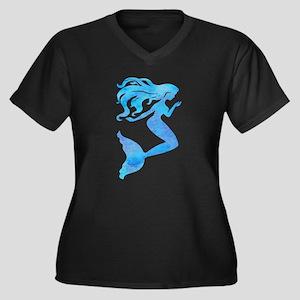 Watercolor Mermaid Plus Size T-Shirt