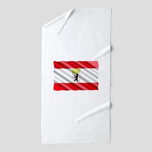 Berlin Flag Beach Towel
