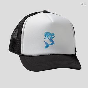Watercolor Mermaid Kids Trucker hat