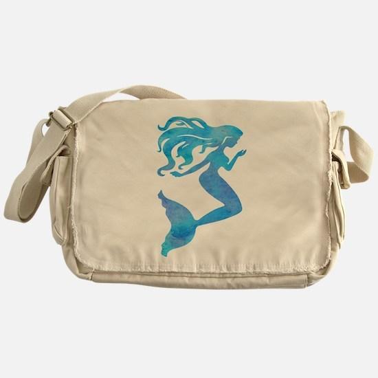 Watercolor Mermaid Messenger Bag