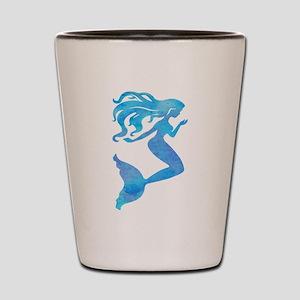 Watercolor Mermaid Shot Glass
