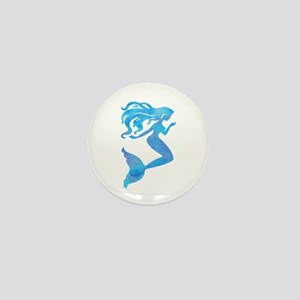 Watercolor Mermaid Mini Button