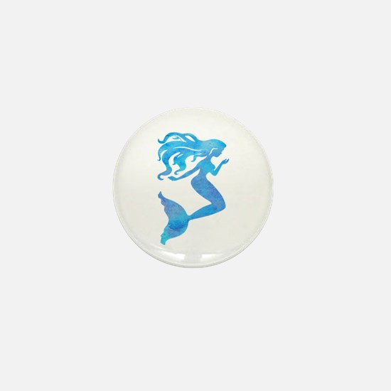 Watercolor Mermaid Mini Button
