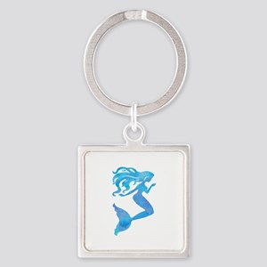Watercolor Mermaid Keychains