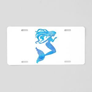 Watercolor Mermaid Aluminum License Plate