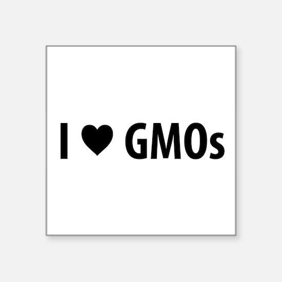 I Love GMOs - White Sticker