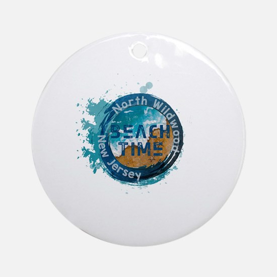 Cute North wildwood Round Ornament