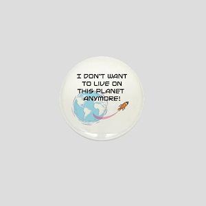 live on planet Mini Button