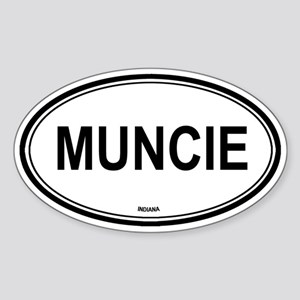 Muncie (Indiana) Oval Sticker
