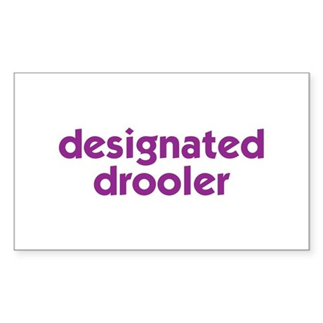 Designated Drooler Rectangle Sticker