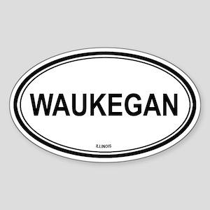 Waukegan Illinois Oval Sticker