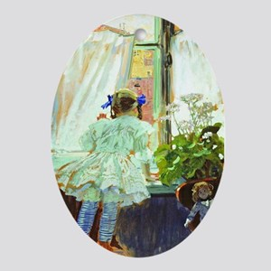 At the Window Ornament (Oval)
