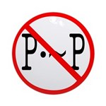 P not P Ornament (Round)
