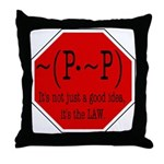 P not P Throw Pillow