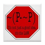 P not P Tile Coaster