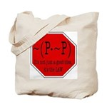 P not P Tote Bag