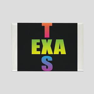 Texas Black Rainbow Magnets