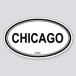 Chicago (Illinois) Oval Sticker