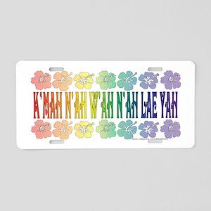 KMAH NIWAH NILAE YAH trans Aluminum License Pl