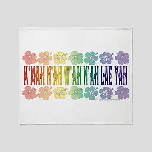 KMAH NIWAH NILAE YAH trans Throw Blanket
