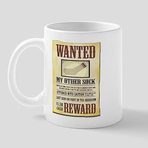 Wanted Sock Mug