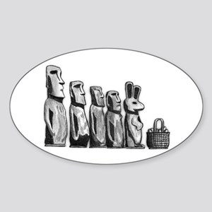 Easter Island Sticker (Oval)