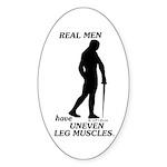 Real Men Sticker (Oval 50 pk)
