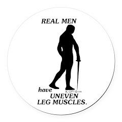 Real Men Round Car Magnet